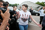 Надежда Савченко в Международном аэропорте Борисполь