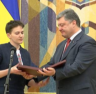 Порошенко наградил Савченко и пообещал вернуть Донбасс и Крым в состав Украины