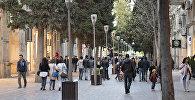 Улица Низами – одна из оживленных улиц в центре Баку