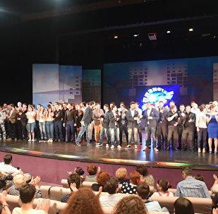 КВНщики из России и Грузии выступили в Баку