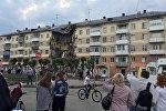 Rusiyanın Kemerovo əyalətində yaşayış binasının blok hissəsi çöküb