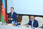AMEA-nın prezidenti, akademik Akif Əlizadə və UNEC-in rektoru professor Ədalət Muradov