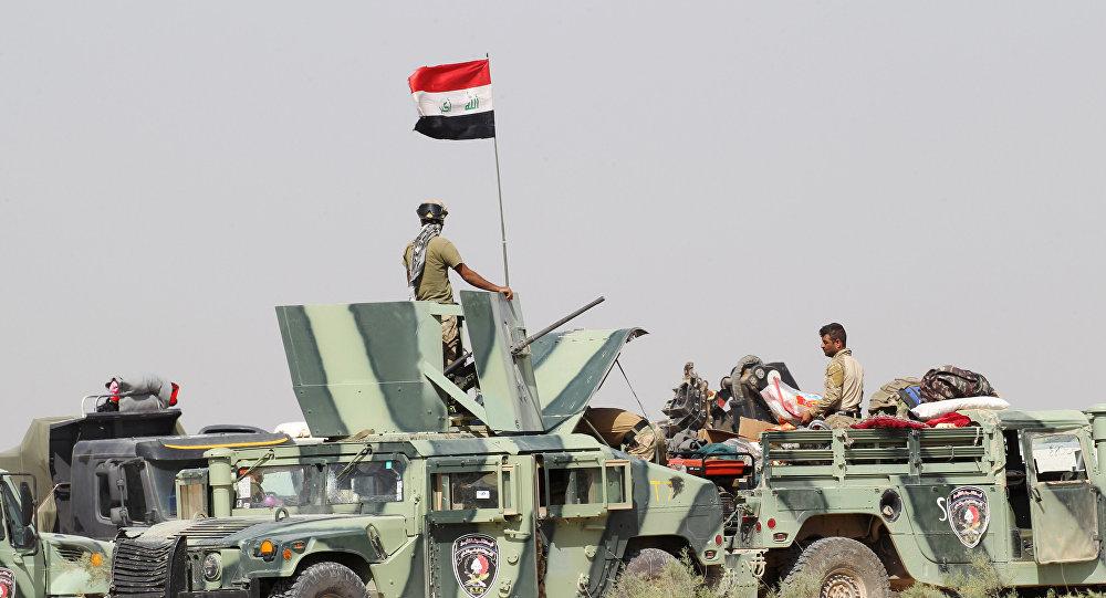 Силы безопасности Ирака вблизи города Эль-Фаллуджа
