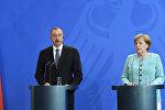 Пресс-конференция по итогам переговоров канцлера Германии Ангелы Меркель и президента Азербайджана Ильхама Алиева, фото из архива