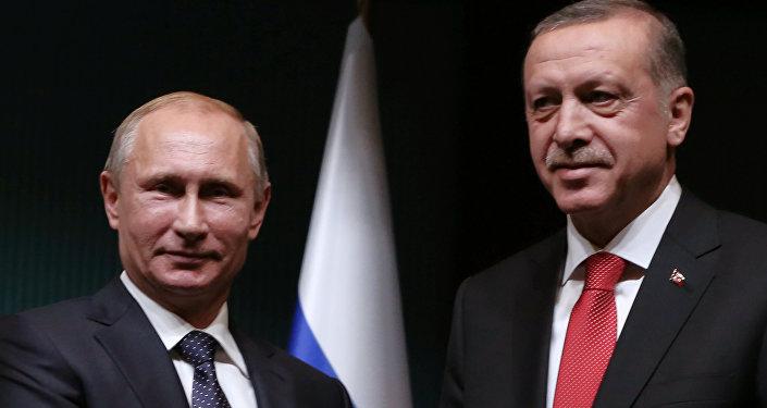 Президент России Владимир Путин и глава Турции Реджеп Таййип Эрдоган