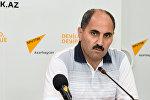 Азер Хасрет, политический аналитик, член Совета по прессе Азербайджана
