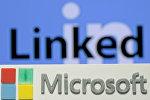 Linkedin və Microsoftun loqotipləri