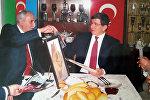Türkiyənin o vaxtkı xarici işlər naziri Əhməd Davudoğu Fizuli Hüseynovun qonağıdır