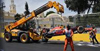 Filarmoniya döngəsində Red Bull komandasının pilotu Daniil Rikkardo qəza törədib