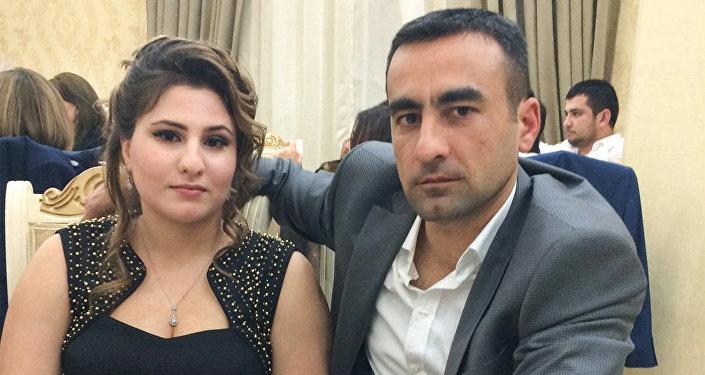 Samid İmanov həyat yoldaşı Badam xanımla