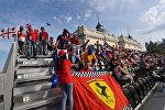 Зрители на трибунах Гран-При Европы Формулы-1, архивное фото