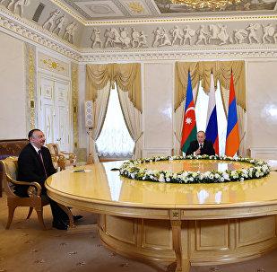 Azərbaycan, Rusiya və Ermənistan prezidentlərinin birgə görüşü