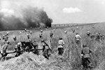 Sovet qoşunları alman ordusuna qarşı növbəti hücum zamanı.1944-cü il