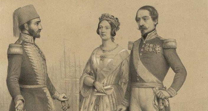 Sultan I Əbdülməcid, Böyük Britaniya və Şimali İrlandiya kraliçası Viktoriya və Fransa dövlətinin rəhbəri Napoleon