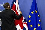 Böyük Britaniya və Avropa İttifaqı bayraqları