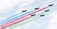 Пролет боевых самолетов ВВС Азербайджана во время торжественного военного парада в Баку. Архивное фото