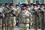 Gürcüstanlı hərbi xidmətçilər. Arxiv şəkli