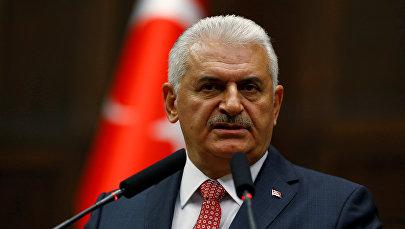 Türkiyənin baş naziri Binəli Yıldırım, arxiv şəkli