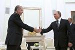 Rəcəp Tayyip Ərdoğan və Vladimir Putin. Arxiv şəkli