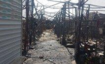 В четверг на рынке, расположенном в поселке 8 километр, ранее известном как автомобильный произошел сильный пожар