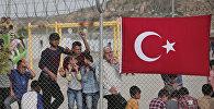 Сирийские беженцы в лагере Низип в турецкой провинции Газиантеп
