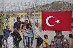 Türkiyənin Qaziantep vilayətindəki Nizip qaçqın düşərgəsinin sakinləri