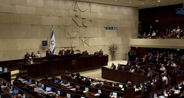 İsrail Parlamenti Knessetin iclası. Arxiv şəkli