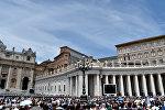 Vatikandakı Müqəddəs Pyotr meydanı. Arxiv şəkli