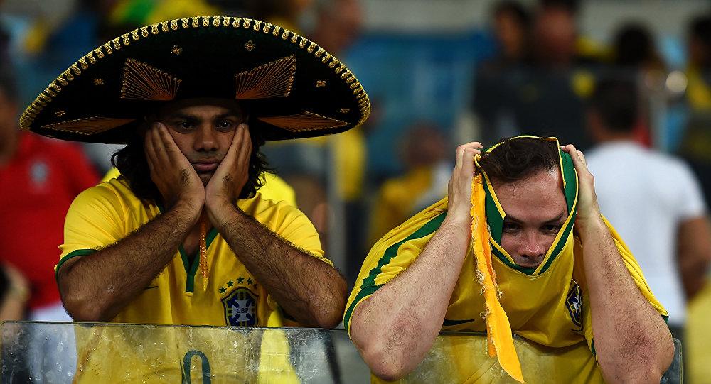Braziliya yığma komanda azərkeşləri. Arxiv şəkli