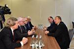 Встреча президента Азербайджана Ильхама Алиева с сопредседателями МГ ОБСЕ