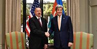 Prezident İlham Əliyev və ABŞ-ın dövlət katibi Con Kerrinin görüşü. Arxiv şəkli