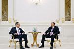 Azərbaycan Prezidenti İlham Əliyev və Rusiyanın xarici işlər naziri Sergey Lavrovun görüşü. Arxiv şəkli