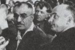 Mircəfər Bağırov və Lavrentiy Beriya. 1935-ci il