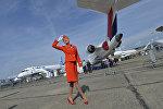 Rusiyanın Aeroflot şirkətinin stüardessası