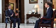 Президент Сирии Башар Асад с журналистом телеканала MSNBC