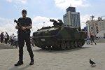 Taksim meydanında tank