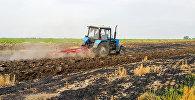 Трактор на полях селения Кечярли Бардинского района, фото из архива