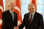 Türkiyənin baş naziri Binəli Yıldırımla CHP lideri Kamal Kılıçdaroğlu