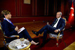 Президент Турции Реджеп Тайип Эрдоган дает эксклюзивное интервью корреспонденту CNN. Турция, Стамбул, 18 июля 2016 года