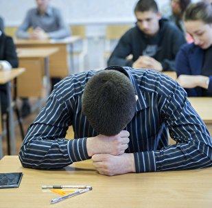 Студенты во время экзамена, фото из архива