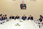 Встреча министра налогов АР Фазиля Мамедова с представителями Американской торговой палаты в Азербайджане