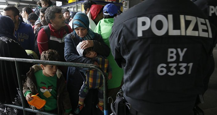 Polizei überwacht Flüchtlinge in München