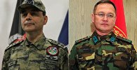 Бригадный генерал Джахит Бакир(слева) и бригадный генерал Шенер Топуч