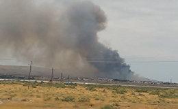 Последствия пожара на оружейном заводе в Азербайджане