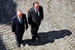 François Hollande et Bernard Cazeneuve. L'hommage aux victimes de l'attentat de Nice