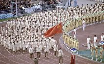 Команда СССР на открытии Олимпиады-80