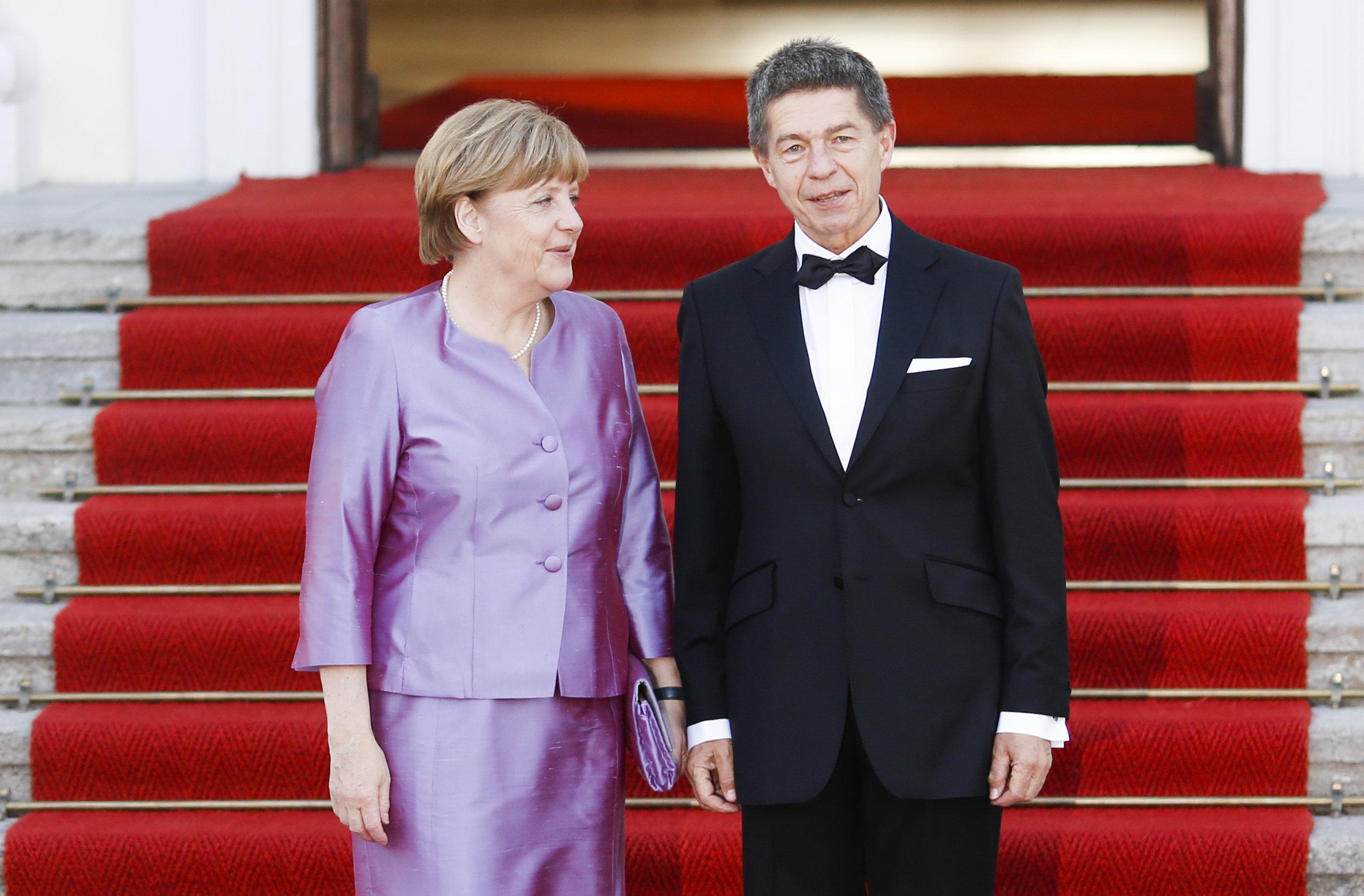 Angela Merkel və həyat yoldaşı Joaxim Zauer