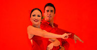 Танец фламенко в исполнении ансамбля Kastro Romero Flamenko на сцене VIII Габалинского международного фестиваля