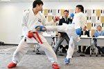 Karate məşqləri. Arxiv şəkli
