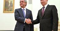 Vladimir Putin və Serj Sarkisyanın görüşü. Moskva, Kreml, 10 mart 2016-cı il
